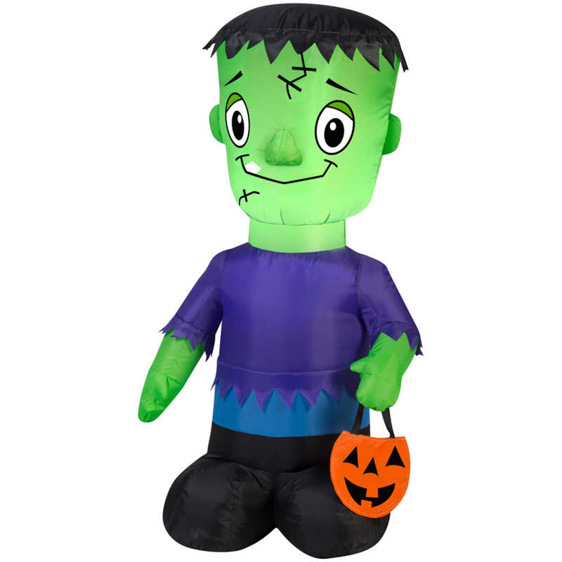 Gemmy  Frankenstein  Lighted Halloween Inflatable  42 in. H x 8-/16 in. W x 7-7/8 in. L 1 pk