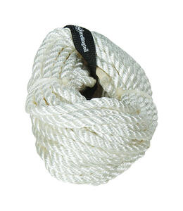 Wellington  3/8 in. Dia. x 50 ft. L White  Twisted  Nylon  Rope