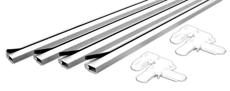 Prime-Line  White  Aluminum  3/4 in. W x 3/4 in. L Screen Frame Kit  9 pk