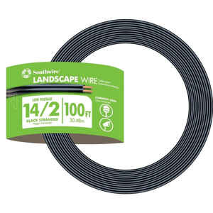 Southwire  100 ft. 14/2  Stranded  Landscape  Low Voltage Cable  Outdoor  Black