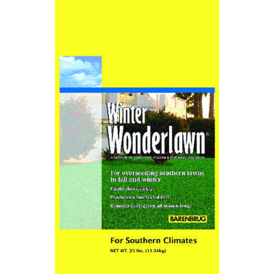 Barenbrug  Wonderlawn  Italian/Perennial Ryegrass  Sun/Partial Shade  Lawn Seed Mixture  25 lb.