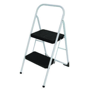 Cosco  34.646 in. H x 17.323 in. W 200 lb. Steel  Two Step Big Step Stool  2