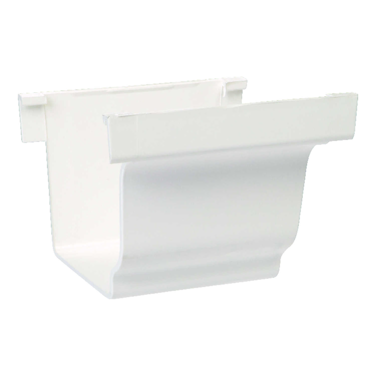 Genova  5 in. W x 5  L x 5 in. H White  Vinyl  K  Gutter Connector