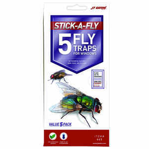 JT Eaton  Stick-A-Fly  Fly Trap  5 pk