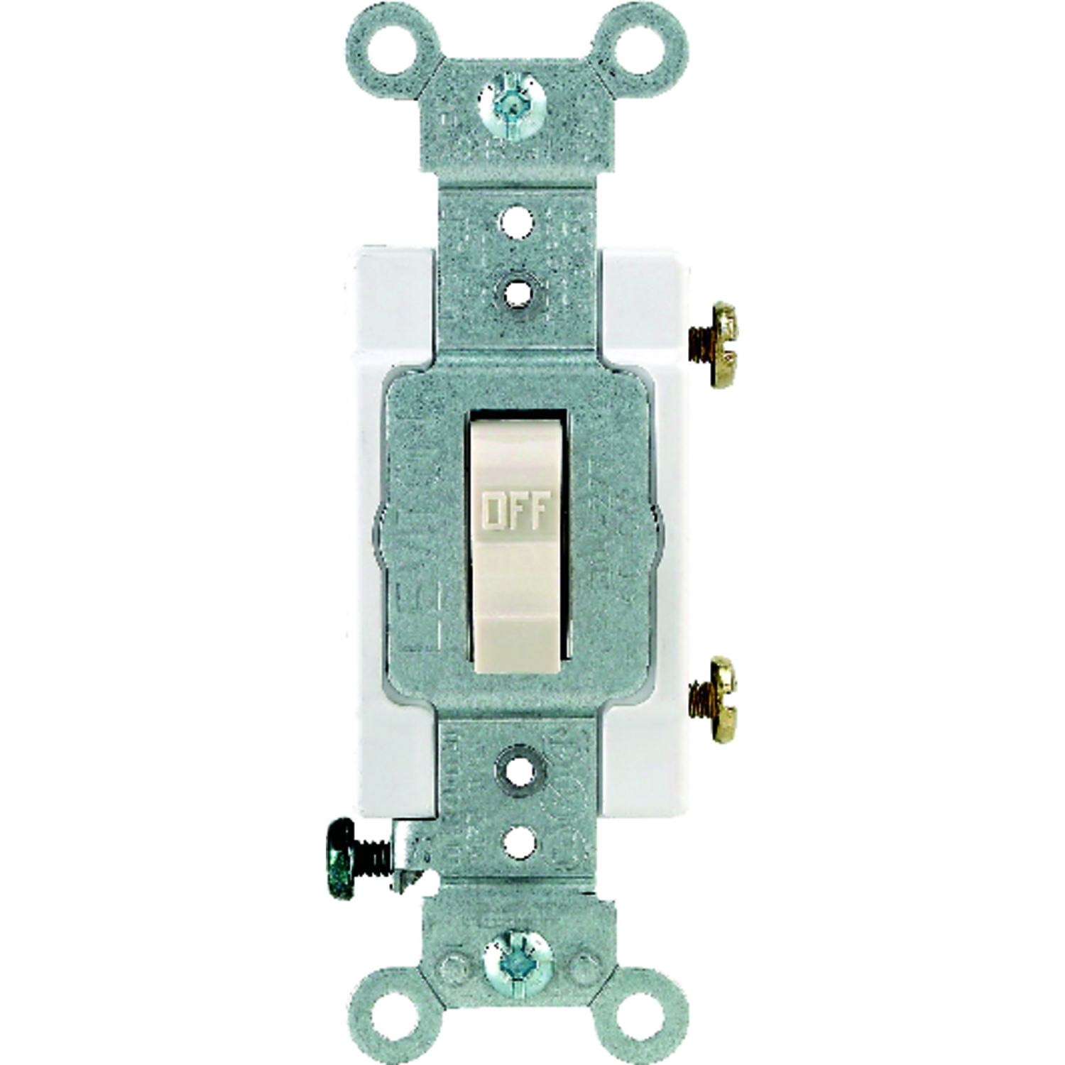 Leviton  20 amps Switch  1 pk Light Almond  Toggle  Commercial