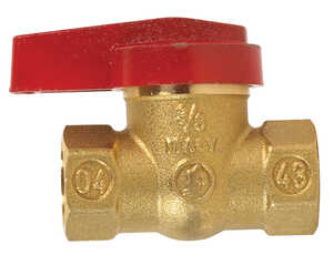 B & K  Gas Ball Valve  3/8 in. FPT   x 3/8 in. Dia. FPT  Brass  One Piece