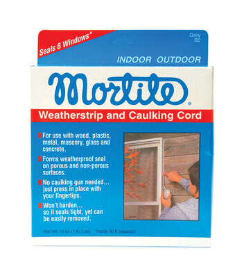 Frost King  Mortite  Gray  Poly Foam  Caulking Cord  For Windows 90 ft. L x 1/4 in.