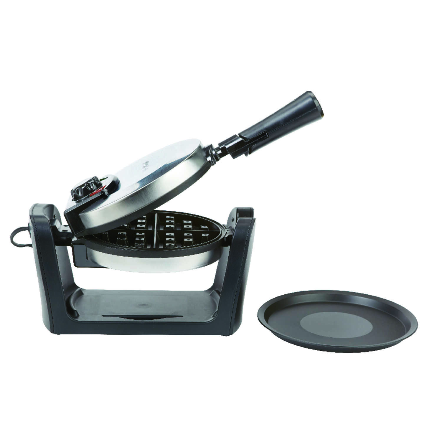 West Bend  Brushed  Stainless Steel  Waffle Maker