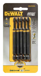 DeWalt  Impact Ready  Phillips  3-1/2 in. L x #2 in.  Screwdriver Bit  1/4 in. 5 pc.