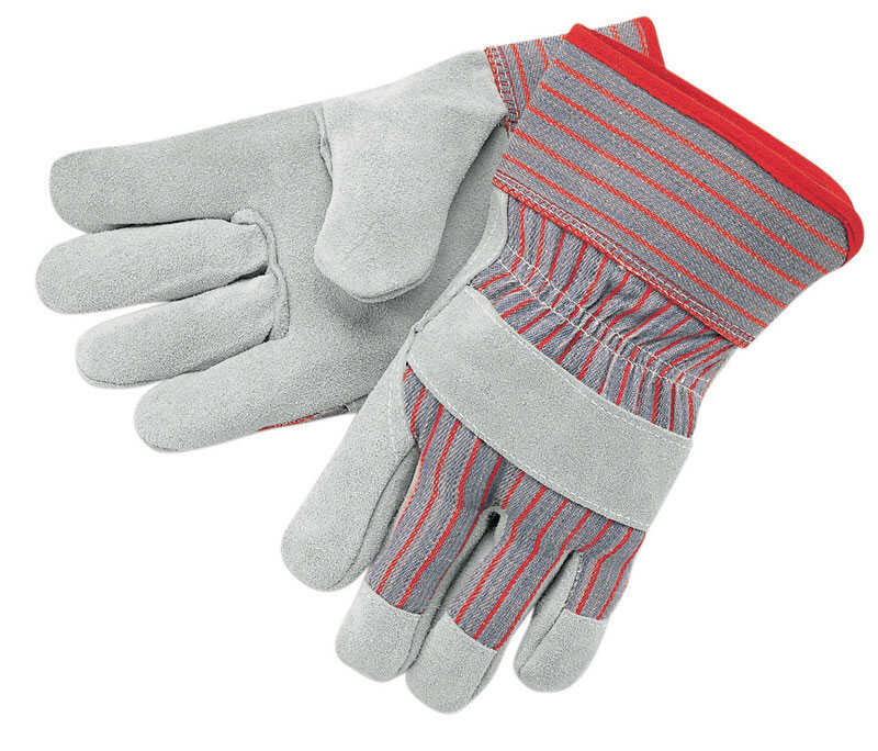 MCR Safety  Unisex  Cowhide Leather  Palm  Gloves  Gray  L