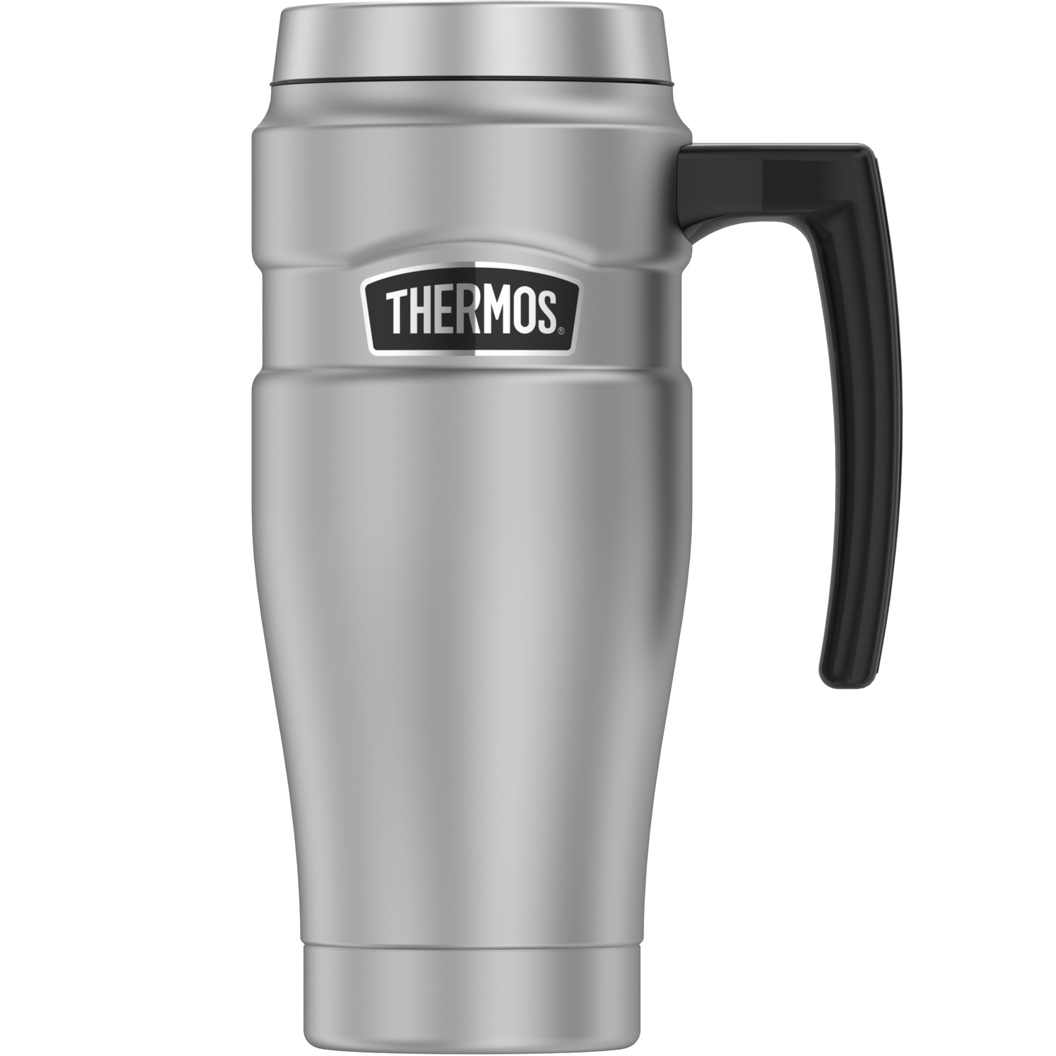 Thermos  Silver/Black  Stainless Steel  Travel Tumbler  BPA Free 14 oz. Travel Tumbler