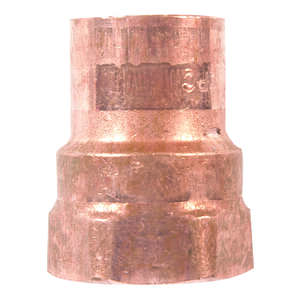 Elkhart  1/2 in. Dia. x 1/2 in. Dia. Copper To FIP  Copper  Pipe Adapter