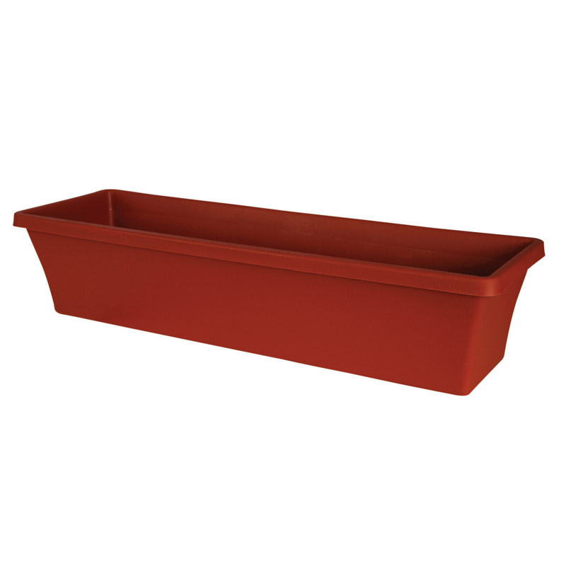 Bloem  Terrabox  5.2 in. H x 24 in. W Terracotta Clay  Resin  Traditional  Planter