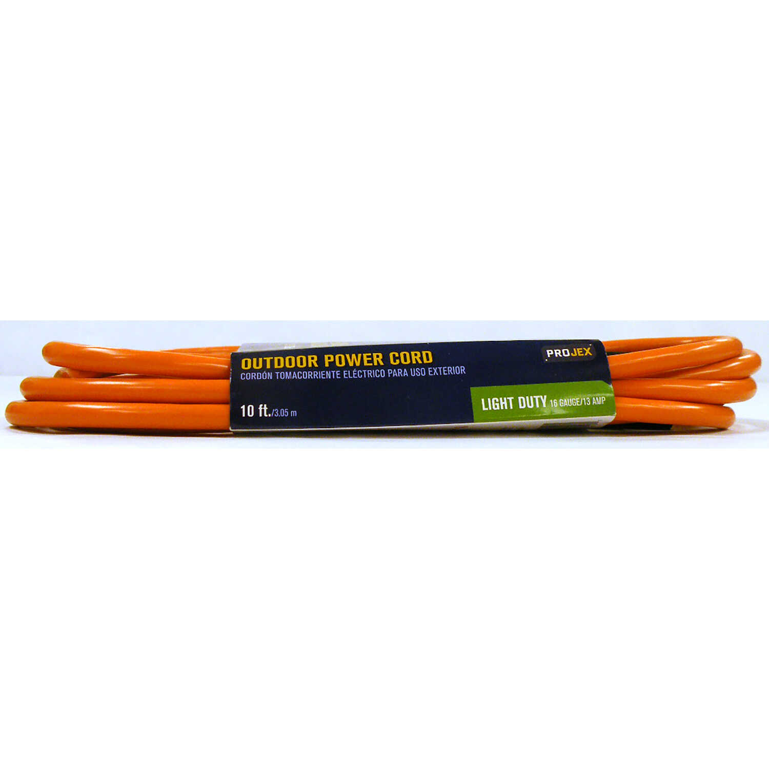 Projex  Indoor and Outdoor  10 ft. L Orange  Extension Cord  16/3 SJTW