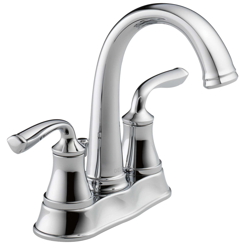 Delta Lorain Chrome Two Handle Lavatory Faucet 4 In Ace