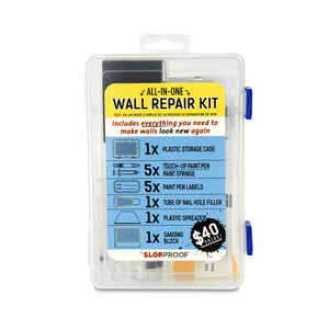 SlobProof  6 in. W Plastic  Wall Repair Kit