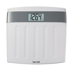 Taylor  350 lb. Digital  Bathroom Scale  White/Gray