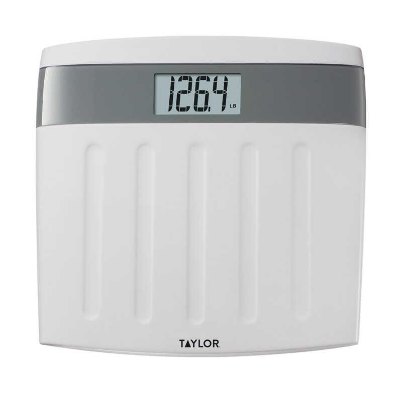 Digital Bathroom Scales For Sale: Taylor 350 Lb. Digital Bathroom Scale White/Gray