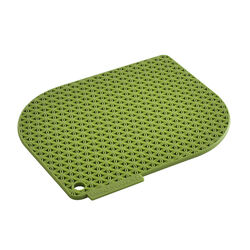 Charles Viancin Honeycomb Bamboo Green Silicone Pot Holder
