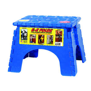 B and R  9 in. H 300 lb. 1  Folding Step Stool  Resin