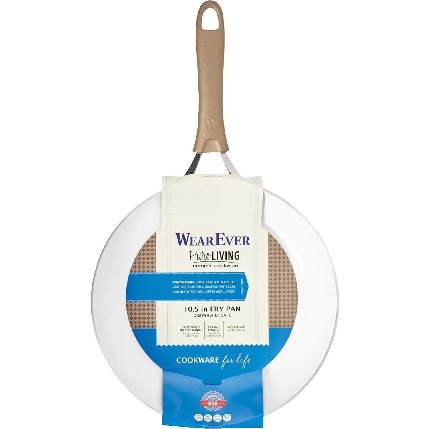 WearEver  Pure Living  Ceramic Coated Aluminum  Fry Pan  10-1/2 in. Champagne