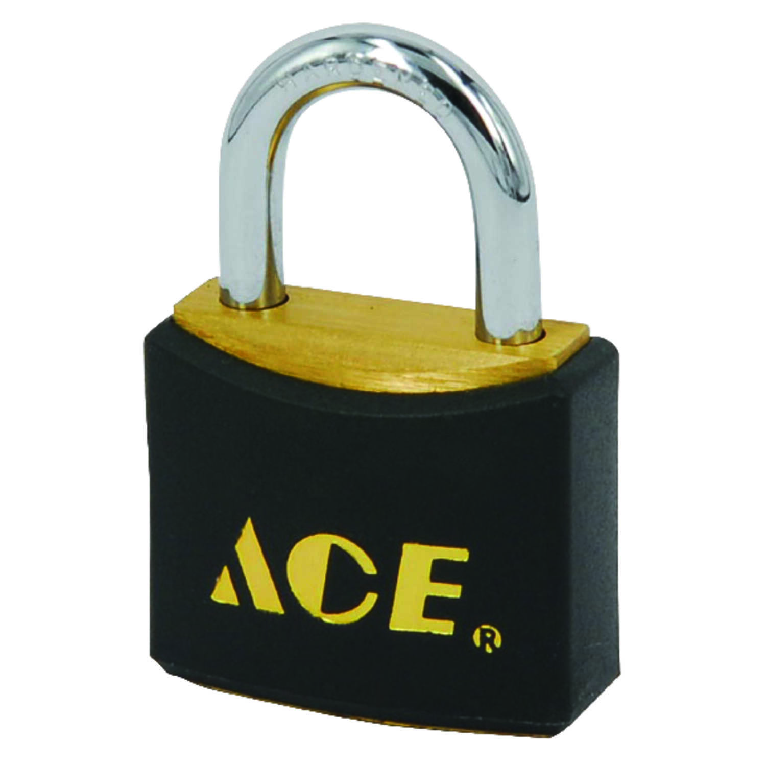 Ace  1 in. H x 1 in. W x 1/2 in. L Brass  Pin Tumbler  Padlock  2 pk Keyed Alike