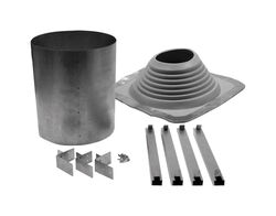 Selkirk  8 in. Dia. Galvanized Steel  Adjustable Chimney Flashing