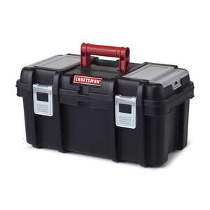 Craftsman  7 in. W x 11 in. H 16 in. Toolbox  Poly Resin  Black
