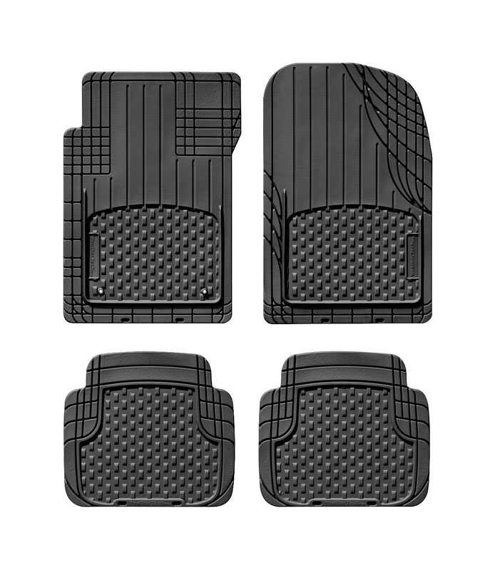 WeatherTech  Black  Thermoplastic Elastomer  Auto Floor Mats  4 pc.
