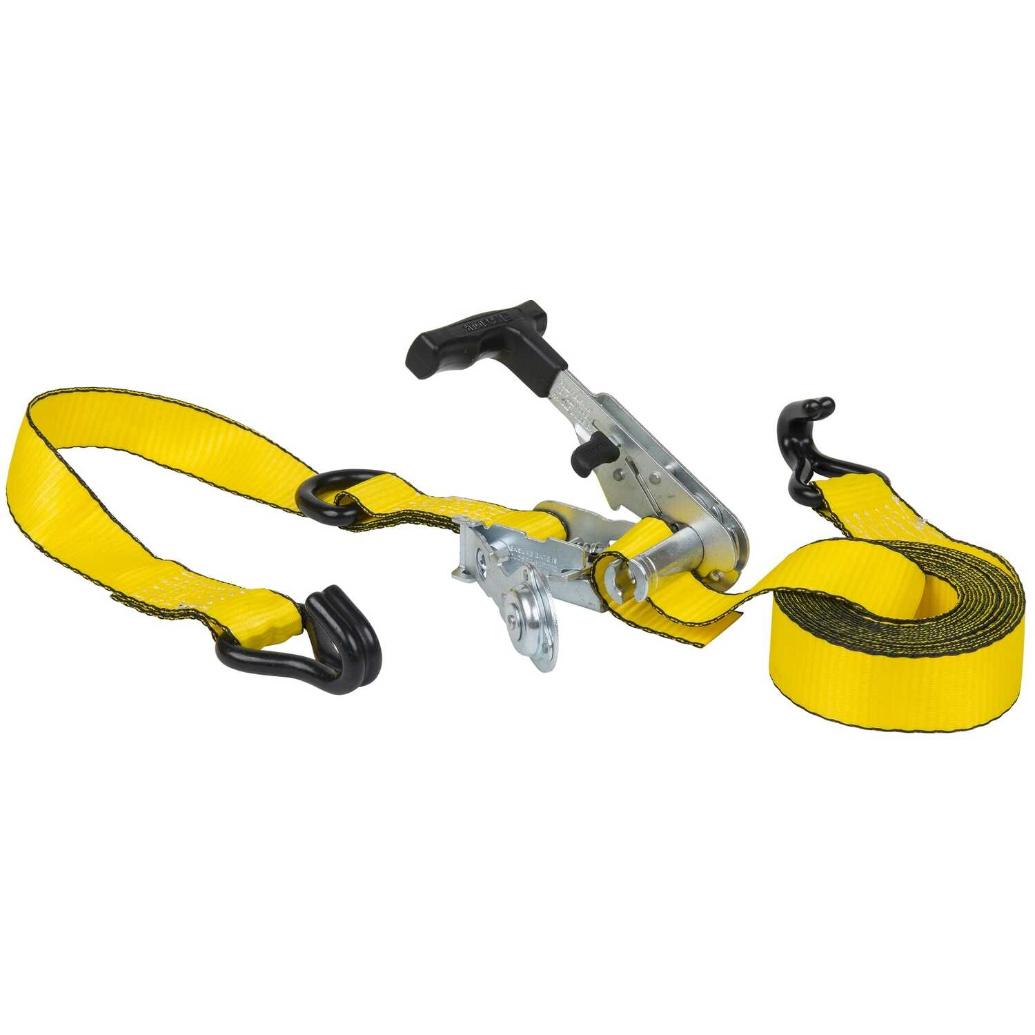 Keeper  Ratchet Armour Series  1-1/4 in. W x 14 ft. L Yellow  Tie Down w/Ratchet  1000 lb. 1 pk