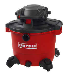 Craftsman  16 gal. Corded  Wet/Dry Vacuum with Blower  12 amps 120 volt Red  29 lb.