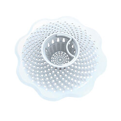 Danco  5 in. Dia. White  Plastic  Drain Cover