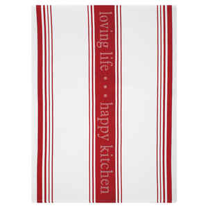 Mu Kitchen  Pepper Red  Cotton  Dish Towel  1 pk
