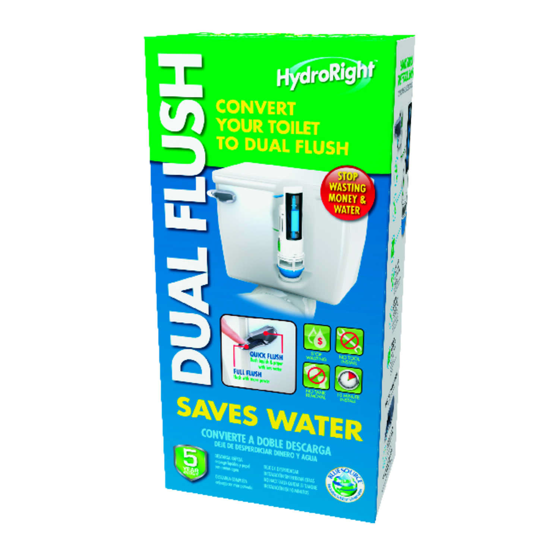 Danco Hydroright Dual Flush Converter 11-1/2 in. H x 5-1/2 in. L ...