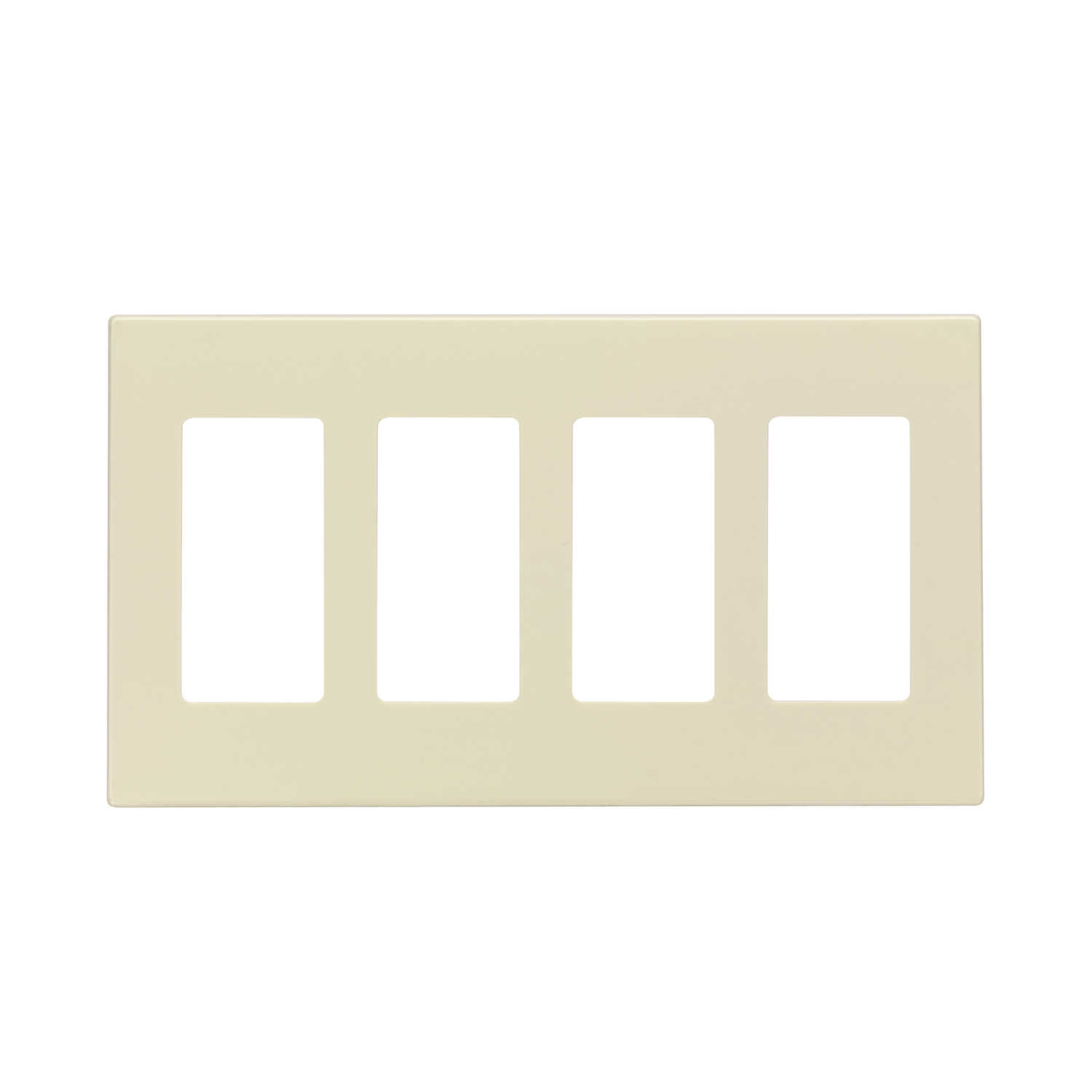 Leviton  Almond  4 gang Polycarbonate  Rocker  Screwless Wall Plate  1 pk