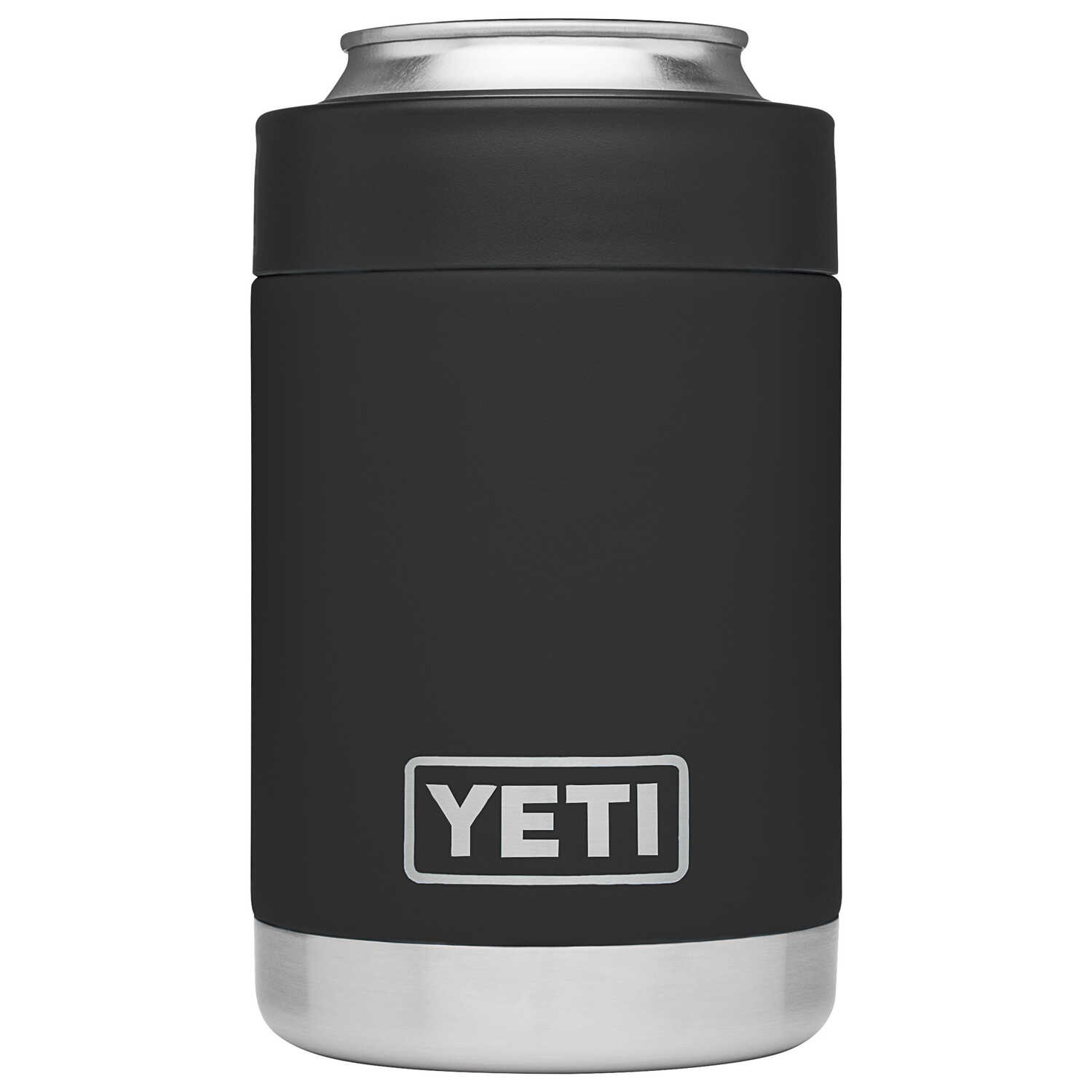 YETI  Rambler Colster  Black  Stainless Steel  BPA Free Beverage Holder  12