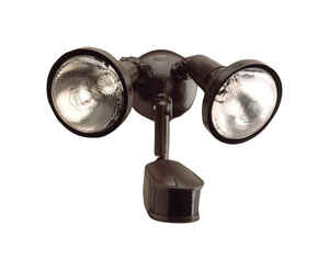 All-Pro  Motion-Sensing  270 deg. Incandescent  Bronze  Outdoor Floodlight  Hardwired