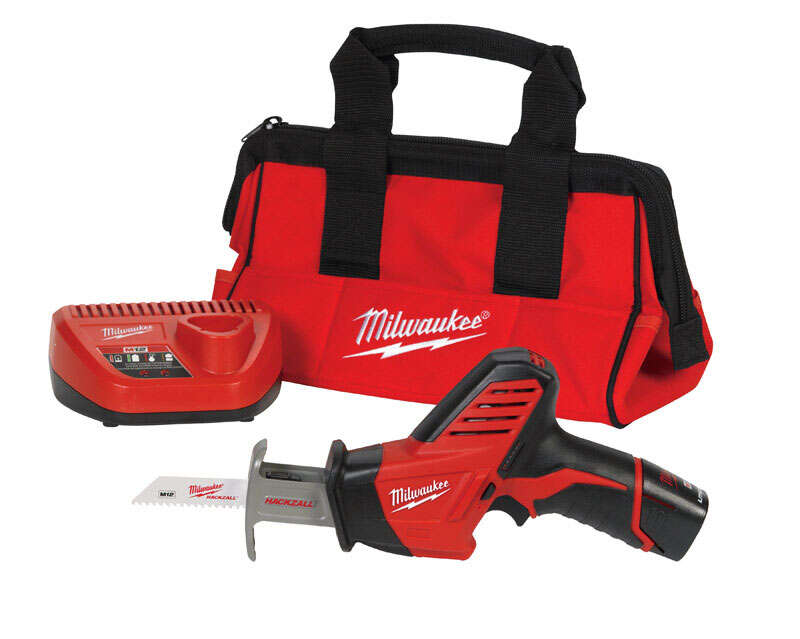 Milwaukee  M12 HACKZALL  1/2 in. Reciprocating Saw  Cordless  Kit 12 volt 3000 spm