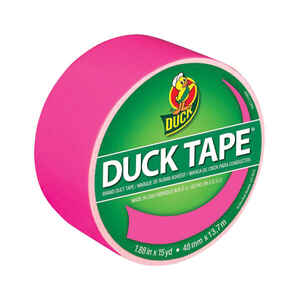 Duck  1.88 in. W x 15 yd. L Neon Pink  Duct Tape