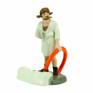 Department 56  Christmas Vacation Cousin Eddie Figurine  Village Accessory  White  Porcelain  1 each
