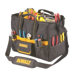 DeWalt  5 in. W x 13.25 in. H Polyester  Tool Bag  33 pocket Black/Yellow  1 pc.