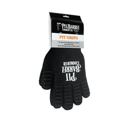 Pit Barrel Cooker Co.  One Size Fits All  Fiber/Silicon  Black  Gloves