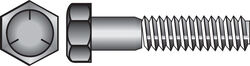 Hillman  5/16 in. Dia. x 2-1/2 in. L Heat Treated Zinc  Steel  Hex Head Cap Screw  100 pk