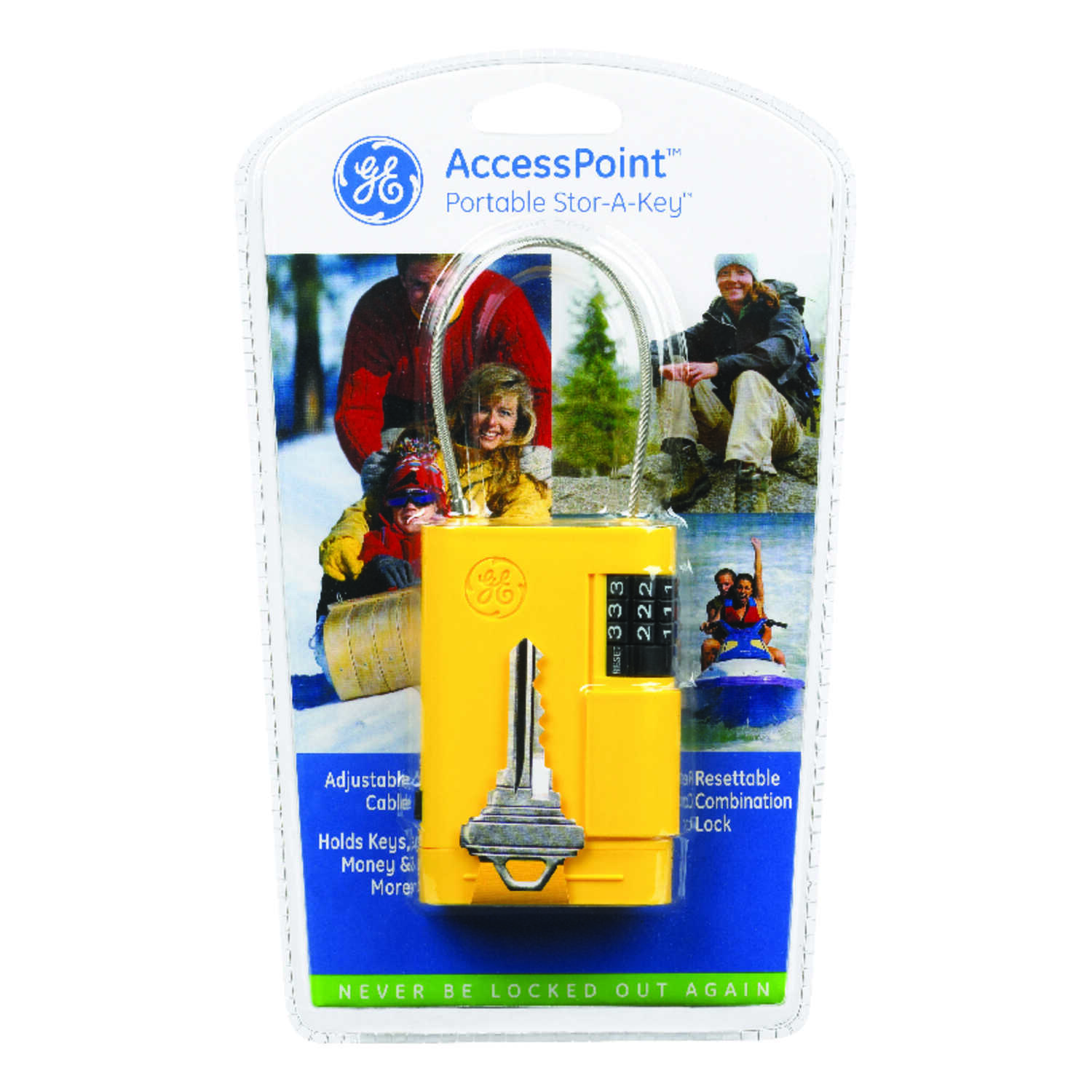 GE  Yellow  Plastic/Steel  Key Storage