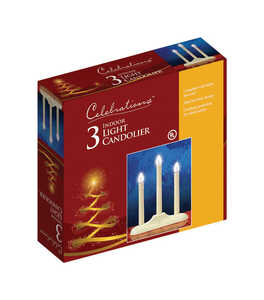 Celebrations  Incandescent  Candle  Clear  3 lights