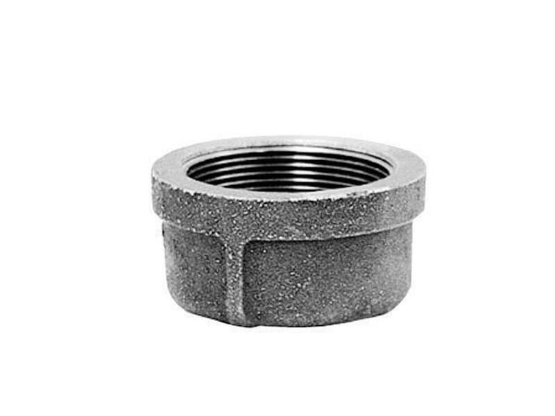 B & K  1-1/4 in. FPT   Galvanized  Malleable Iron  Cap
