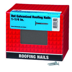 Ace  1-1/4 in. Roofing  Hot-Dipped Galvanized  Steel  Nail  Large  5 lb.
