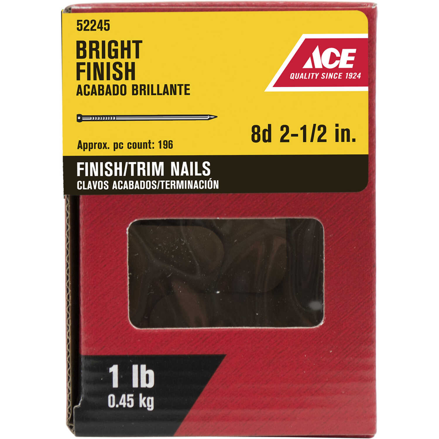 Ace  8D  2-1/2 in. L Finishing  Nail  Countersunk Head 1 lb.