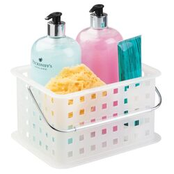 InterDesign 5.3 in. H x 6.5 in. W x 9 in. L Clear Shower Caddy