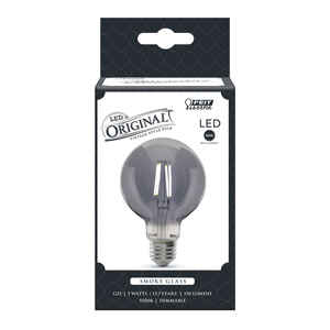 FEIT Electric  G25  E26 (Medium)  Filament LED Bulb  Smoke Daylight  40 Watt Equivalence 1 pk